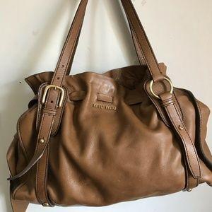 MIU MIU Classic Large Brown Leather Bag
